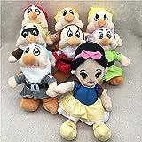 Peluches Película Blancanieves y los siete enanitos Peluche Juguetes lindos de dibujos animados Niños Regalos de cumpleaños 20cm