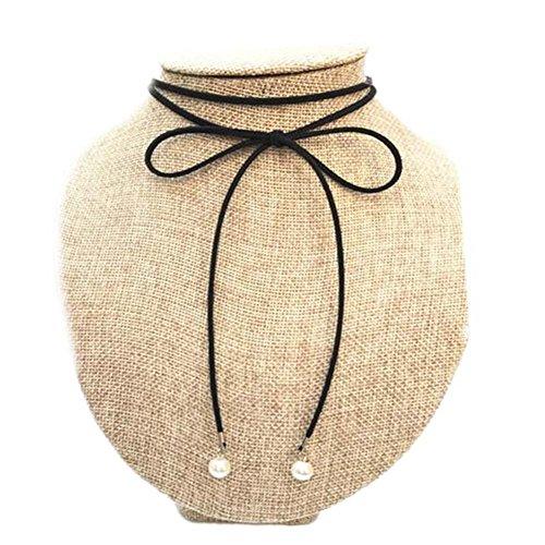 Cordes de cou noir de mode Belle Collier Spécial