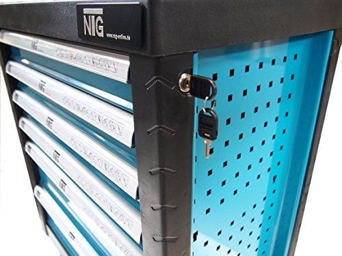 Werkzeugwagen Werkstattwagen Werkzeugkasten Werkzeugkiste + Werkzeug 220 tlg. - 6