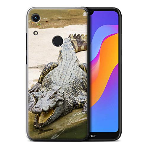 Hülle Für Huawei Honor 8A/Play Wilde Tiere Krokkodil/Alligator Design Transparent Ultra Dünn Klar Hart Schutz Handyhülle Hülle