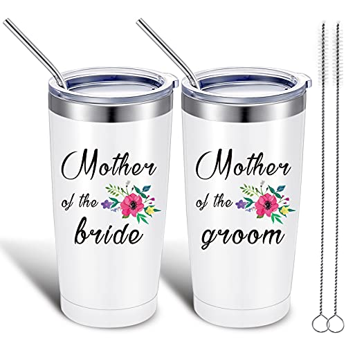 2 Pieces Mother of the Groom Mother of the Bride Mug Tumblers,...
