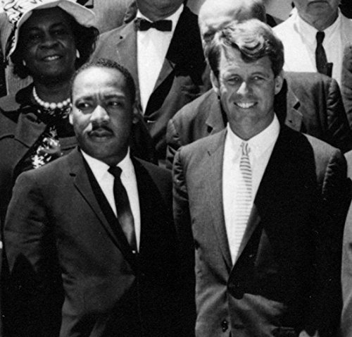 MLK and RFK Dr. King Robert Kennedy Poster Art Photo Great Americans Artwork 12x12