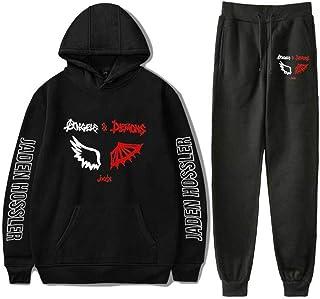De.Pommeyeux Jaden Hossler Merch - Juego de sudadera con capucha y pantalones para hombre, estilo hip hop