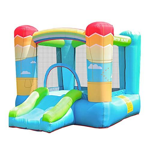Inflatable castle Combo Castillo Hinchable De Jardín Grande para Niños Y Tobogán Princesa De Disney para Interiores Y Exteriores Tobogán De Trampolín para Juegos Domésticos 2,7 * 2 * 1,68 M