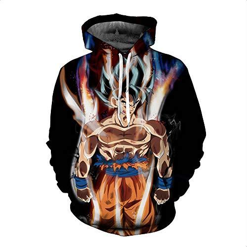 Zcbm Kapuzenpullover Streetwear Pullover Outwear Hoodie Kapuzenjacke Dragon Ball Goku Son Gohan Vegeta Sweatshirts Langarm Trainingsanzüge Unisex,A,M