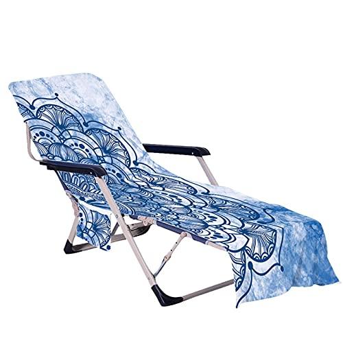 Tianxiu Strandkorb Handtuch Lounge Chair Cover Strandhandtuch Liegenbezug Strandtuch Mikrofaser Strandtasche Garten Sonnenlieg Handtuch Stuhl Strandtuch mit Taschen Schnell TROCKNENDE gaudily
