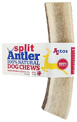 100% Natural SPLIT Antler Dog Chews The Hypo-Allergenic Dog Chew Like Stagbar (Medium 51-80g)