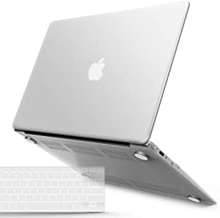 IBENZER Macbook Air 13 Inch Case A1466 A1369, Hard Shell Case with Keyboard Cover for Apple Mac Air 13 Old Version 2017 2016 2015 2014 2013 2012 2011 2010, Clear, A13CL+1