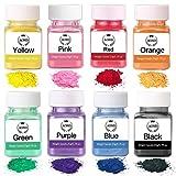 Wtrcsv Epoxidharz Farbe 160g(8er×20g), Mica Pulver Epoxy Resin Farbe Metallic, Farbpigmente Pigment...