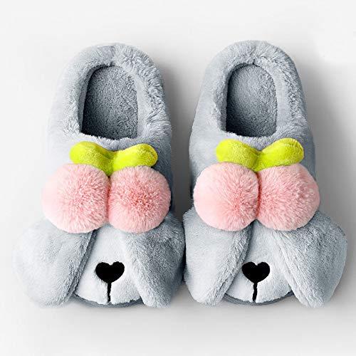 WNxiaobaozi Zapatillas De Casa Mujer Gris Unisex 3D Novelty Fun Perros Soft Warm Cosy Animal Slippers Familia Interior Divertido Zapatillas De Invierno Hogar Diapositivas Zapatos