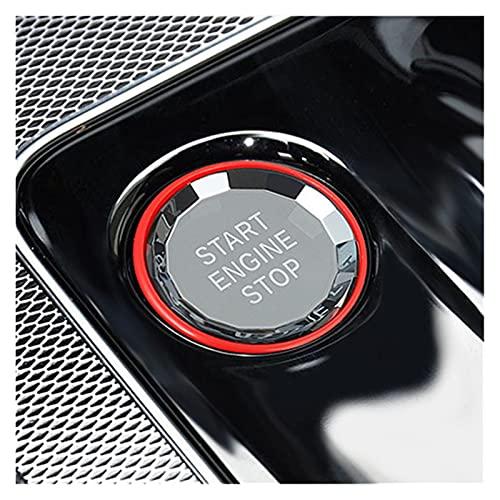 Development Accesorios Interiores de Coches Crystal Start Stop Engine Cubierta de Encendido Botón Funda Ajuste para Jaguar XE XF F-Pace FPACE XFL XEL XEL (Color Name : A)