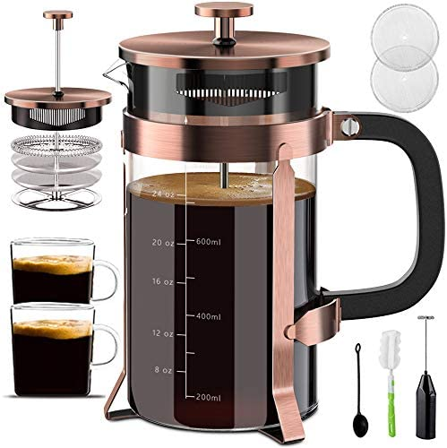 Upgraded French Press Coffee Maker Stainless Steel 34 oz Coffee Press with Stainless Steel Stand product image