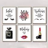 Parfümiert Make-up Poster und Drucke, rote Wimpern,