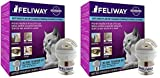 Feliway 2 Pack of Plug-in Calming Diffuser Starter Kits for Cats, Contains 1 Diffuser and 1 Refill Per Pack