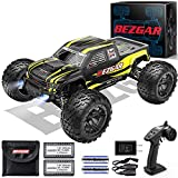 【 Front Light】The BEZGAR 1 RC Truck is equipped with a Headlight, which will be automatically turned on when the remote control truck is switched on and that makes the RC Truck even more realistic. To certain extent, the LED headlight can be used to ...