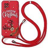 Pnakqil Collier Coque pour Xiaomi Mi 9 6,39', Rouge Silicone TPU Motif Antichoc Bumper Etui Housse...