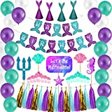 Mermaid Party Supplies & Party Decorations for Girl's Birthday Party