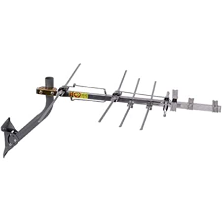 TV Antenna - RCA Outdoor Yagi Satellite HD Antenna with Over 70 Mile Range - Attic or Roof Mount TV Antenna, Long Range Digital OTA Antenna for Clear Reception, 4K 1080P Silver