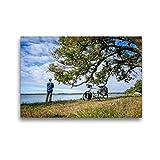 CALVENDO Premium Textil-Leinwand 45 x 30 cm Quer-Format Ostsee Radreise: Naturreservat Kungshamn-Morga, Schweden (Uppsala Iän), Leinwanddruck von Bernd Schadowski