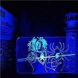 3D Night Light Hunter X Hunter Phantom Troupe Feitan 3D LED luces de noche ilusión anime lámpara de mesa para regalo de Navidad ZGTH
