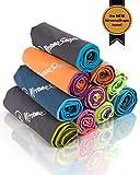 NirvanaShape ® - Toalla de viaje para mochileros, urlauber y traveller de microfibra, compacta, ligera, de secado rápido, toalla de...