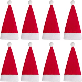 BESPORTBLE 24 stuks mini kerstman hoed kerstmuts bestek organisator tas wijnflessendop tas snijder vorken afdekkingen tas ...