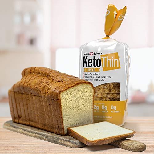 Keto Thin®   Bread   1 Carb   Gluten-Free   Grain-Free   (0 Net Carbs)   100% Keto   (3 Pack)