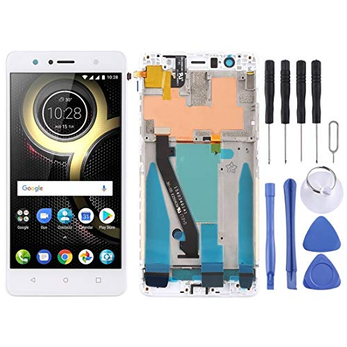 Lenovo LCD Screen LCD Screen and Digitizer Full Assembly with Frame for Lenovo K8 Plus (Black) (Color : White)