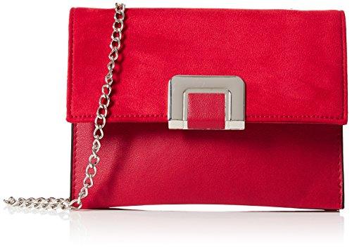 New Look Sleek Chain, Damen Schultertasche, Rot (Bright Red), 7x12x10 cm (W x H L)
