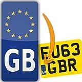 Euro GB Motocicleta Matrícula adhesivo adhesivo de vinilo Europa legal