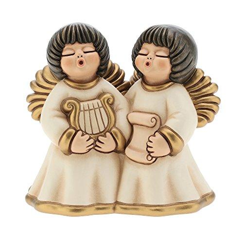 THUN I Coppia Angeli Nelly Grandi-Ceramica-h 14 cm-Linea I Classici