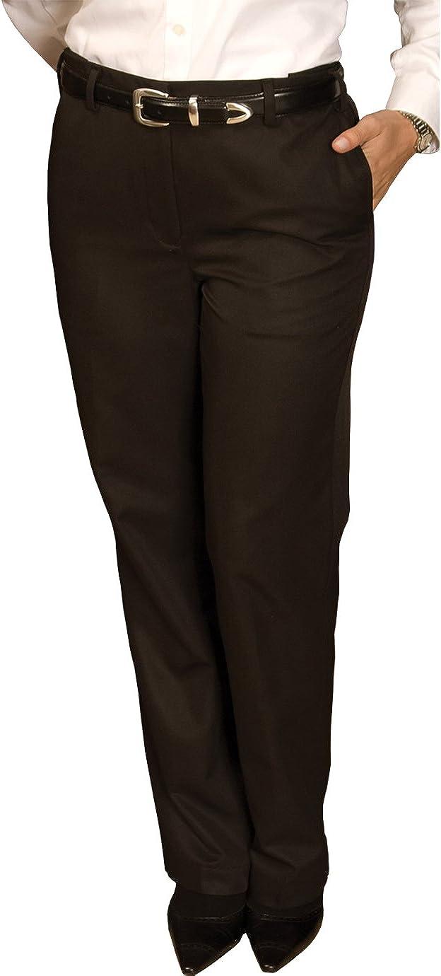 Edwards Garment Women's Casual Chino Blend Pant, Black, 18W UL
