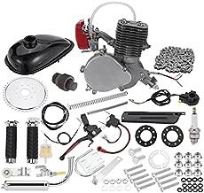 Wioihee Full Set 100cc Bike Bicycle Motor Engine Kit Set Motorized 2 Stroke Petrol Gas, Super Fuel-efficient Bike Engine kit with 2L Oil Tank for 26