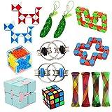15 Pack Fidget Toy Chain Marble Fidget...