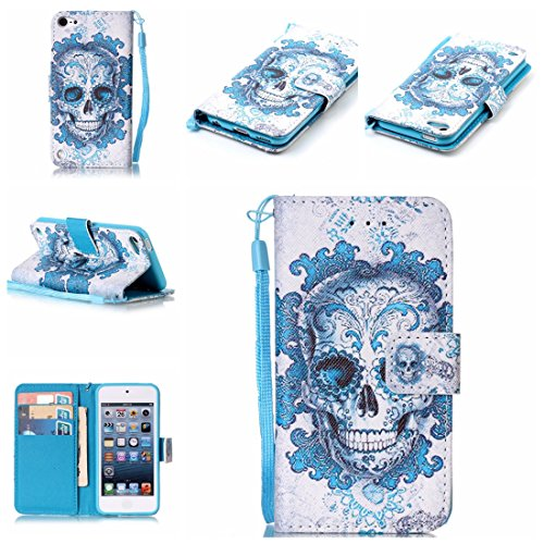 Produktbild Nancen Compatible with Handyhülle iPod Touch 5 / Touch 6 (4, 0 Zoll) Schutzhülle / Lederhülle,  Hoch Qualität Flip Case PU Material Leder Handytasche
