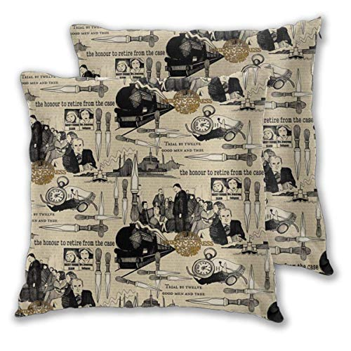 Kay Sam Murder On The Orient Express Agatha Christie Throw Pillow Fundas Decoración Diaria Sofá Dormitorio Funda...