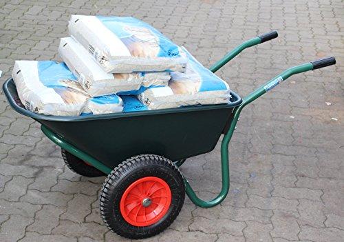 TrutzHolm® 2-Rad Schubkarre Basic PP Gartenschubkarre Schiebkarre Gartenkarre 100l 160kg - 7