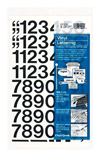 10 best vinyl number stickers 1 inch black for 2021
