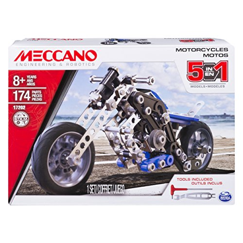Meccano - 5 in 1 Motorcycles Construction Set