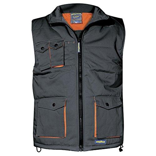 Goodyear G137909/S - Chaleco acolchado color gris, 65% poliester, 35% algodón, 240 gr/m2 Talla S