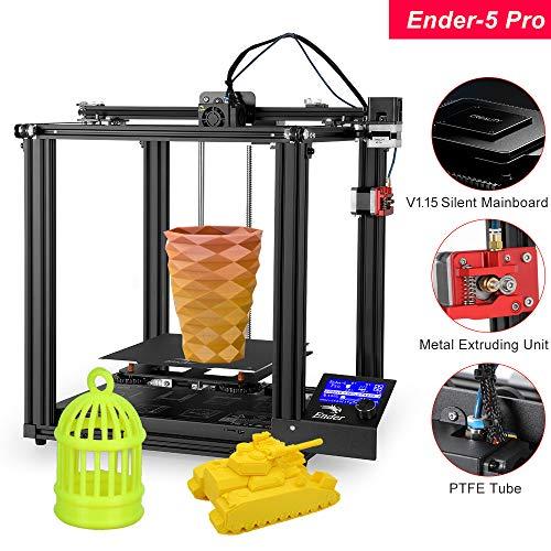 Aibecy Creality 3D High Precision Ender-5 Pro Imprimante 3D Kit de bricolage avec mise à jour Plaque de base silencieuse Tube en PTFE Extrudeuse en métal 220 x 220 x 300 mm