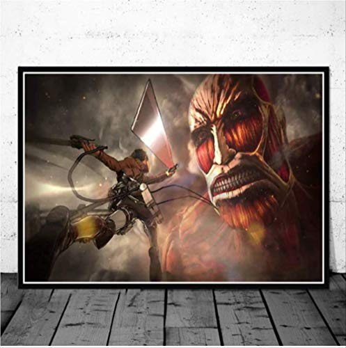 NOBRAND Cartel E Impresiones Hot Attack On Titan Season 3 Japan Anime Movie Art Canvas Painting Wall Pictures Living Room Home Decor 40 * 60Cm Sin Marco