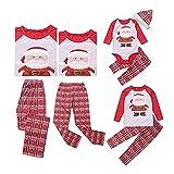 douleway Pijamas de Navidad Familia, Ropa de Noche Homewear Algodón Camisas de Manga Larga + Pantalones Largos Sudadera Invierno Conjunto de Pijamas Familiar para Dad Mom Niños Bebé