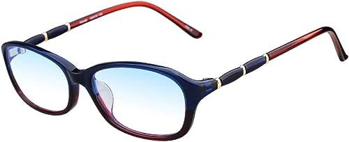 LHR888 Lunettes de Lecture Femme Résine Simple Feuille Alliage Mode élégant et Confortable Anti-Bleu ( Couleur   rouge , Taille   175 Degrees )