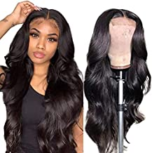Body Wave Lace Front Wigs Human Hair Pre Plucked Bleached Knots with Baby Hair Glueless 4×4 Brazilian Virgin Lace Closure Human Hair Wigs for Black Women Natural Color 150 Density