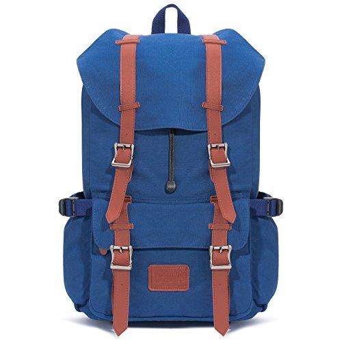 Fjorda Canvas Rucksack Fidelio - Als Handgepäck, für die Schule oder Uni, mit...