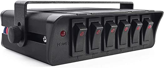 MNJ MOTOR 6 Gang On/Off Rocker Switch Box with LED Light,12-24V 20A Switch Panel for..