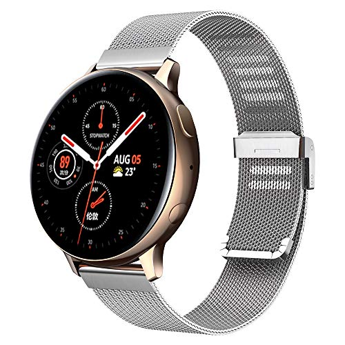 Kobmand Correa de reloj compatible con Samsung Galaxy Watch Active/Active2, pulsera de repuesto con correas de malla para Samsung Galaxy Watch Active/Galaxy Watch Active2/Gear S2 Classic (Oro rosa)