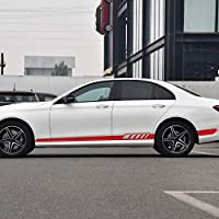 ZYHZJC ドアサイドストライプスカートデカールステッカー メルセデスベンツEクラスW212E200 E300 E350 W213 C238 C207 A207 E63 E43 AMG