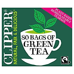 This light and delicate pure green tea, with a bright golden colour, tastes as good as it looks in the cup. Unbleached bags of Fairtrade & Organic green tea Clipper products are made with pure ingredients and a clear conscience. The rejuvenating and ...